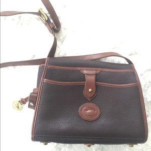 Vtg Dooney & Bourke All Weather Leather Black Bag